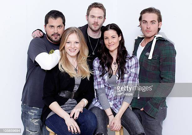 Director Adam Green actors Emma Bell Shawn Ashmore Rileah Vanderbilt and Kevin Zegers poses for a portrait during the 2010 Sundance Film Festival...