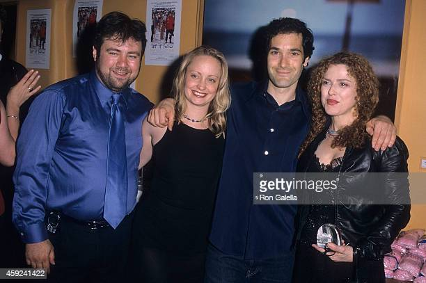 Director Adam Marcus actress Alice Dylan actor Kipp Marcus and actress Bernadette Peters attend the Let It Snow Premiere Party on June 6 2001 at...