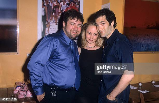Director Adam Marcus actress Alice Dylan and actor Kipp Marcus attend the Let It Snow Premiere Party on June 6 2001 at Jeollado in New York City