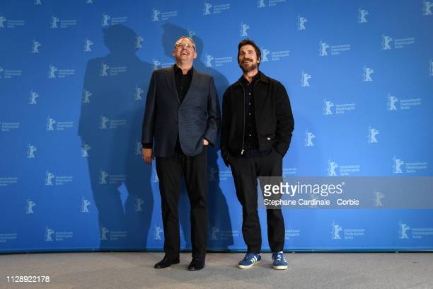 Director Adam McKay and actor Christian Bale pose at the Vice photocall during the 69th Berlinale International Film Festival Berlin at Grand Hyatt...