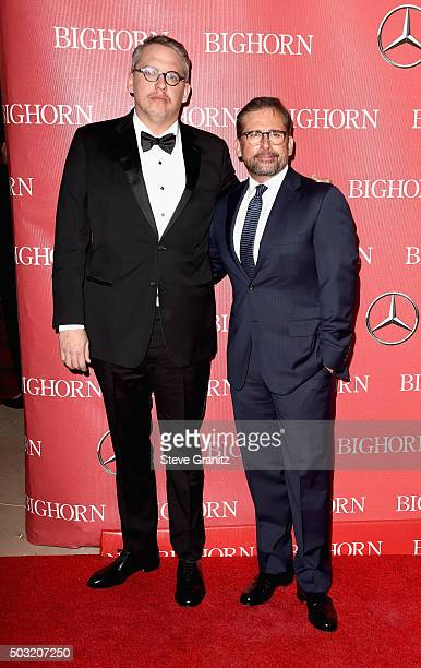 Director Adam McKay and actor Steve Carell attend the 27th Annual Palm Springs International Film Festival Awards Gala at Palm Springs Convention...