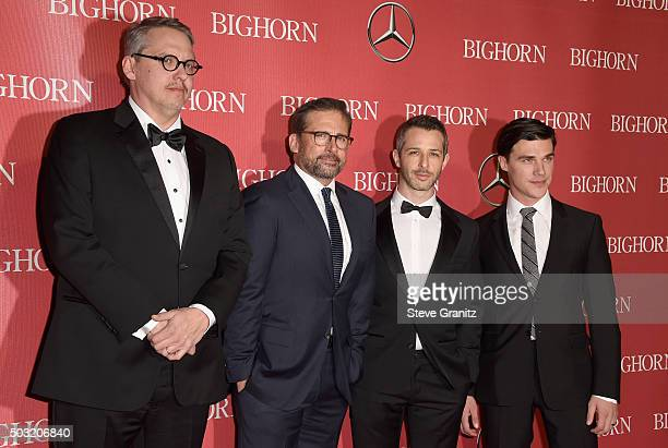 Director Adam McKay and actors Steve Carell Jeremy Strong and Finn Wittrock attend the 27th Annual Palm Springs International Film Festival Awards...