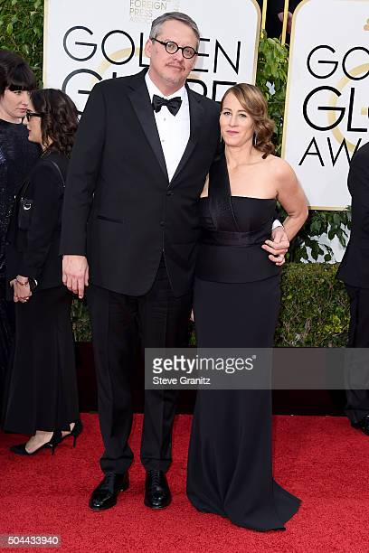 Director Adam McKay and Shira Piven attend the 73rd Annual Golden Globe Awards held at the Beverly Hilton Hotel on January 10 2016 in Beverly Hills...