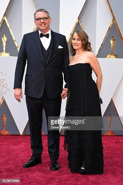 Director Adam McKay and Shira Piven attend the 88th Annual Academy Awards at Hollywood Highland Center on February 28 2016 in Hollywood California