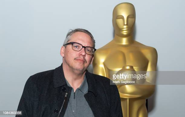 Director Adam McKay attends an official Academy Screening of 'Vice' hosted by The Academy of Motion Pictures Arts Sciences at MOMA Celeste Bartos...