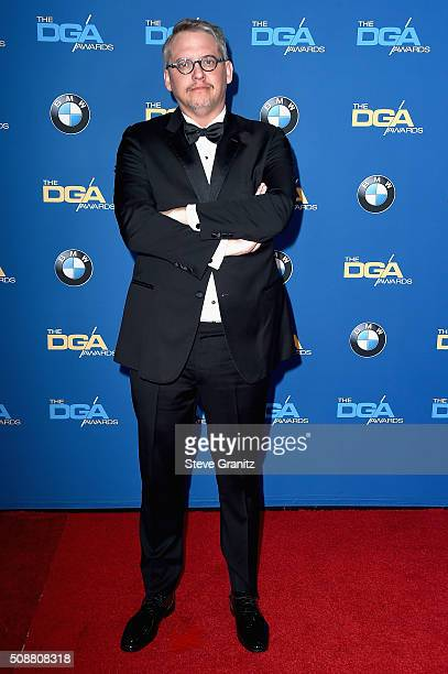 Director Adam McKay attends the 68th Annual Directors Guild Of America Awards at the Hyatt Regency Century Plaza on February 6 2016 in Los Angeles...