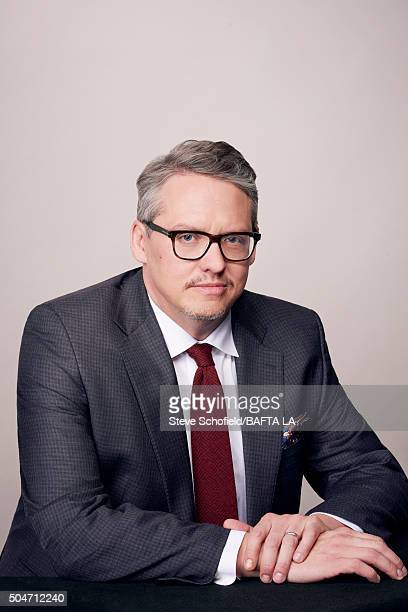 Director Adam McKay poses for a portrait at the BAFTA Los Angeles Awards Season Tea at the Four Seasons Hotel on January 9 2016 in Los Angeles...