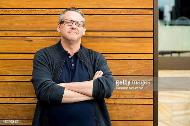 Director Adam McKay poses for a portrait session to promote 'Anchorman 2 The Legend Continues' on November 25 2013 in Sydney Australia