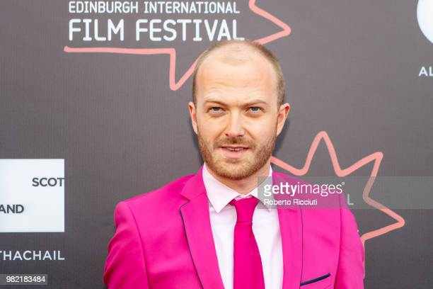 Director Adam Morse attends a photocall for the World Premiere of 'Lucid' during the 72nd Edinburgh International Film Festival at Cineworld on June...