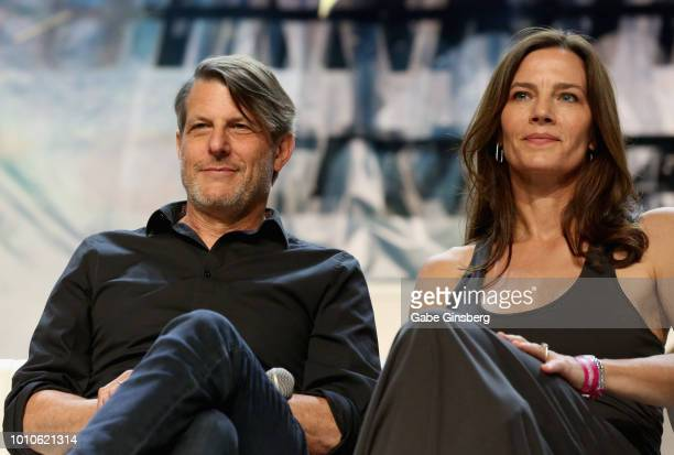 Director Adam Nimoy and his wife actress Terry Farrell speak at the SmithsonianÕs Star Trek Inspiring Culture Technology panel during the 17th annual...