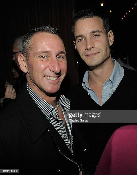 Director Adam Shankman and actor Frank Meli attend Remy Martin V Celebrates Joel McHale's 40th Birthday at The Redbury Hotel on November 19 2011 in...