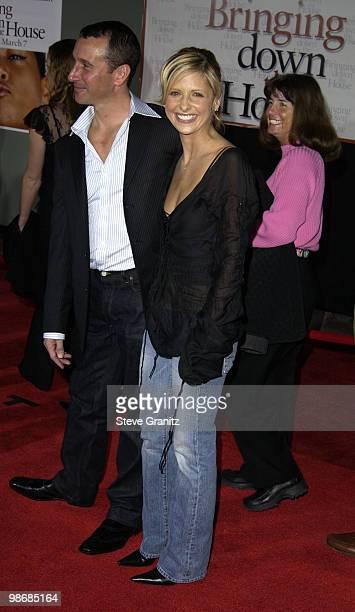 Director Adam Shankman and Sarah Michelle Gellar