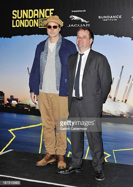 Director Adam Smith and Producer at RSA Caspar Delancey attend the launch photocall for Sundance London at Cineworld 02 Arena on April 24 2013 in...