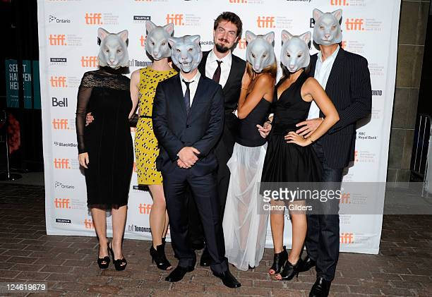 Director Adam Wingard and cast arrive at You're Next Premiere at Ryerson Theatre during the 2011 Toronto International Film Festival on September 10...