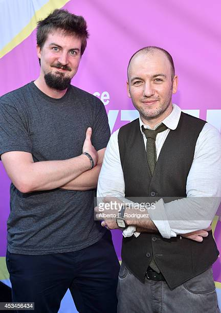 Director Adam Wingard and writer Simon Barrett attend the screening of The Guest during Sundance NEXT FEST at The Theatre at Ace Hotel on August 10...