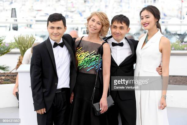 Director Adilkhan Yerzhanov and actress Dinara Baktybaeva attend the photocall for the 'The Gentle Indifference Of The Word' during the 71st annual...