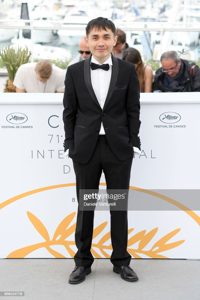 Director Adilkhan Yerzhanov attends the photocall for the 'The Gentle Indifference Of The Word' during the 71st annual Cannes Film Festival at Palais des Festivals on May 17, 2018 in Cannes, France.