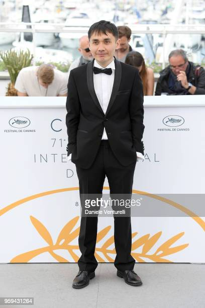 Director Adilkhan Yerzhanov attends the photocall for the 'The Gentle Indifference Of The Word' during the 71st annual Cannes Film Festival at Palais...
