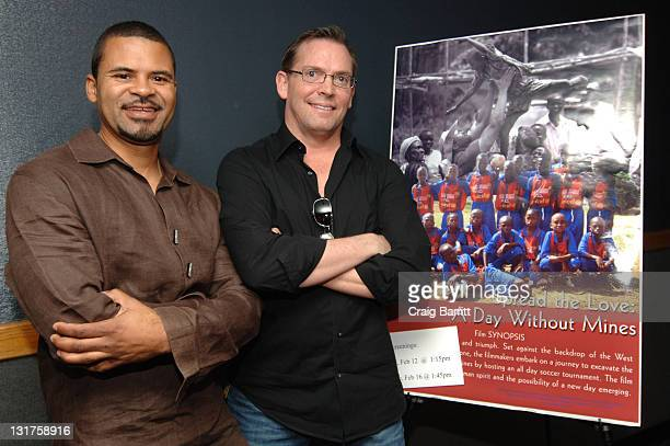 """Director Adisa and Wireimage Co-Founder and Executive Producer of """"A Day Without Mines"""" Michael Caulfield attends the 2010 Pan African Film Festival..."""