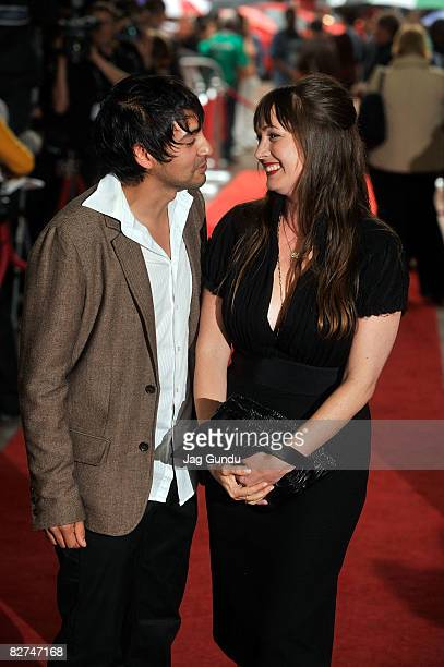 Director Adria Petty and editor John Gutierrez arrives at the 'Paris Not France' premiere during the 2008 Toronto International Film Festival held at...