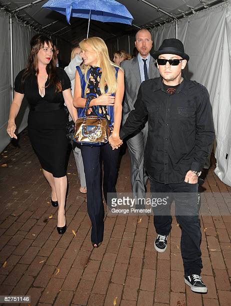 Director Adria Petty socialite Paris Hilton and Joel Madden arrive at the 'Paris Not France' film premiere held at Reyerson Theatre during the 2008...
