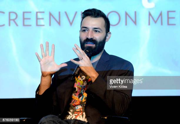 Director Adrian Molina speaks onstage at Pixar's 'COCO' screening and interview presented by Screenvision Media at Vulture Festival LA presented by...