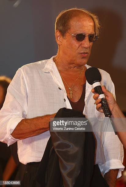 Director Adriano Celentano attends the Yuppi Du film premiere at the Sala Grande during the 65th Venice Film Festival on September 4 2008 in Venice...