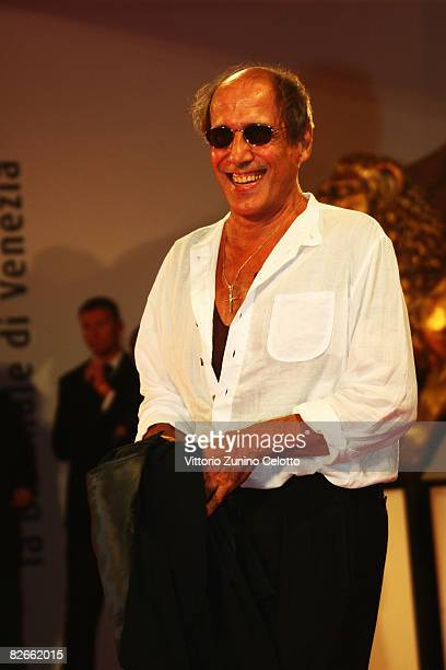 Director Adriano Celentano attends the Yuppi Du premiere at the Sala Grande during the 65th Venice Film Festival on September 4 2008 in Venice Italy