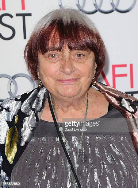 Director Agnes Varda attends the AFI FEST 2013 presented by Audi premiere of Walt Disney Pictures' Saving Mr Banks at TCL Chinese Theatre on November...