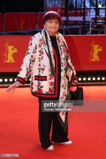 """Director Agnes Varda attends the """"Varda By Agnes"""" premiere during the 69th Berlinale International Film Festival Berlin at Berlinale Palace on..."""