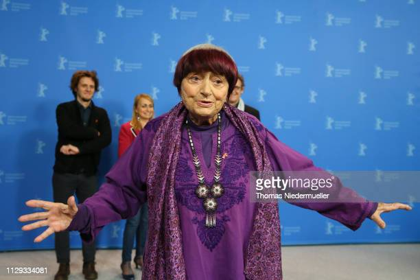 """Director Agnes Varda poses at the """"Varda By Agnes"""" photocall during the 69th Berlinale International Film Festival Berlin at Grand Hyatt Hotel on..."""