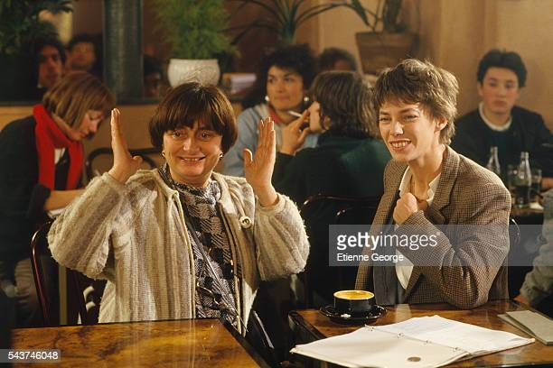 Director Agnès Varda directing English born actress and singer Jane Birkin on the set of her film Jane B par Agnès V