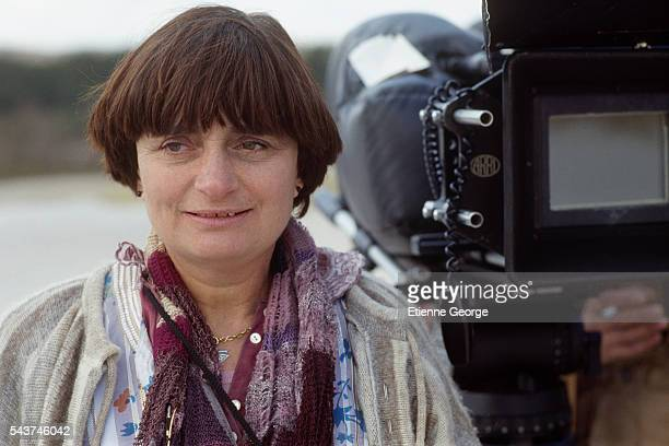 Director Agnès Varda on the set of her film Jane B par Agnès V