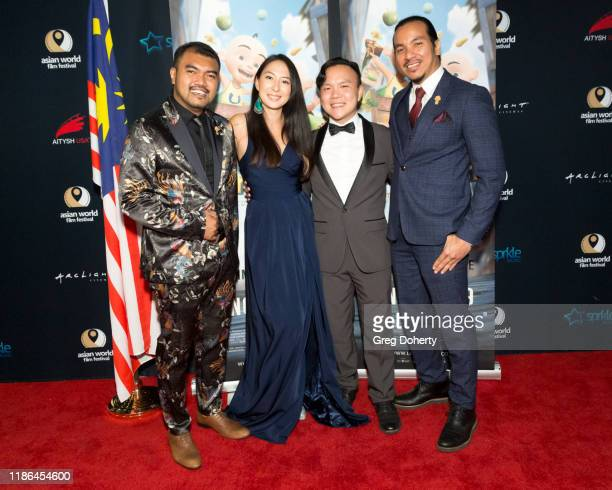 "Director Ahmad Razuri Bin Roseli Composers Emily Shibata and Andrew Bong and Director Syed Nurtaiz Bin Syed Ibrahim attend ""Upin Ipin"" the First..."