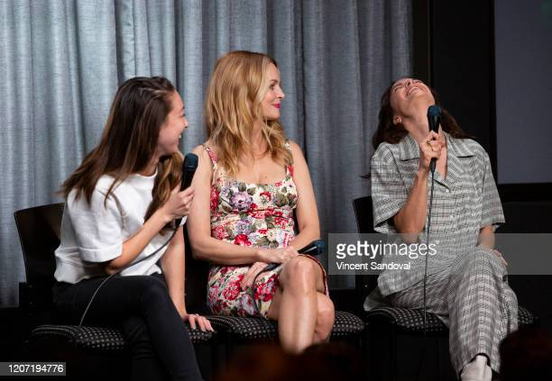 Director Aisling ChinYee Actress Heather Graham and Jodi Balfour attend SAGAFTRA Foundation Conversations presents The Rest Of Us at SAGAFTRA...