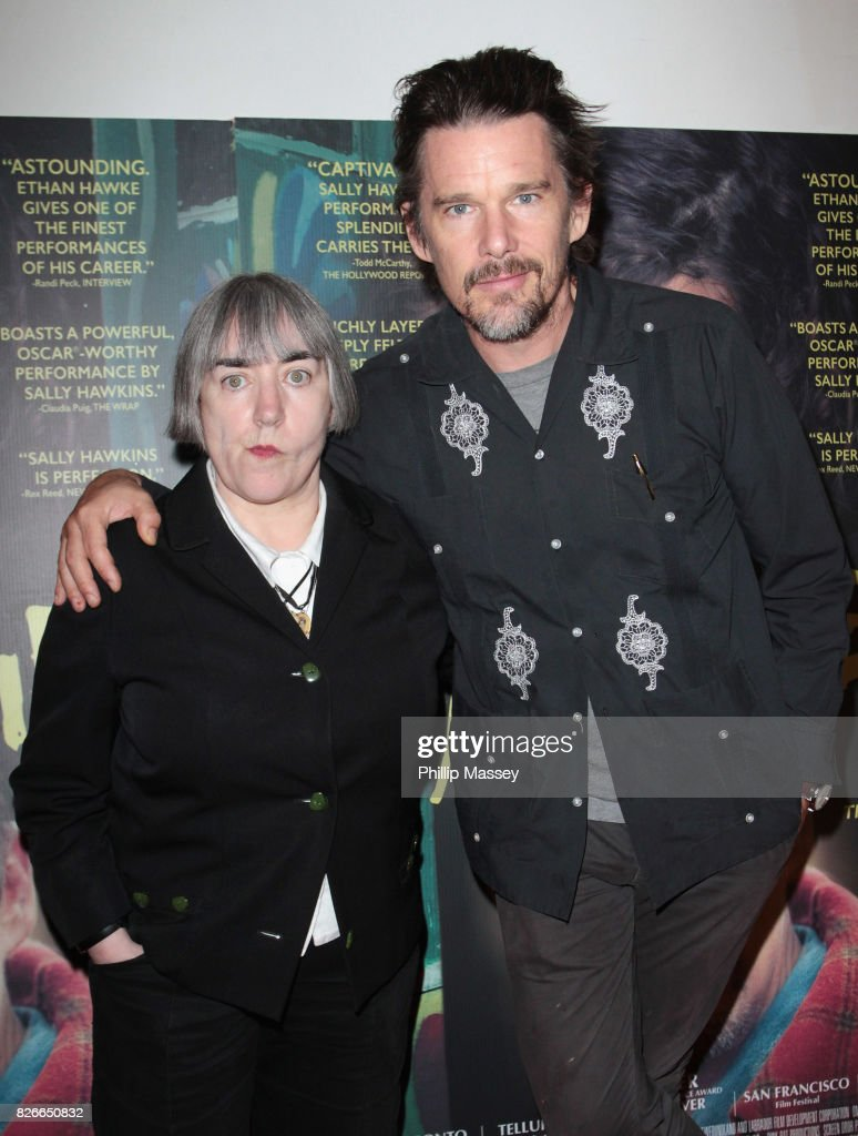 Director Aisling Walsh and Ethan Hawke attend a screening of 'Maudie' at The Lighthouse Cinema on August 5, 2017 in Dublin, Ireland.