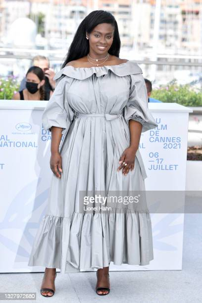 """Director Aissa Maiga attends the """"Marcher Sur L'Eau"""" photocall during the 74th annual Cannes Film Festival on July 10, 2021 in Cannes, France."""