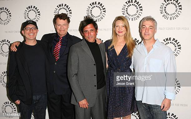 Director Akiva Goldsman actor John Noble executive procucer JH Wyman actress Anna Torv and Executive producer Jeff Pinkner attend The Paley Center...