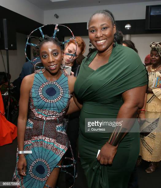 Director Akosua Adoma Owusu and director Apolline Traor attend the opening night of the 25th African Film Festival at Walter Reade Theater on May 16...