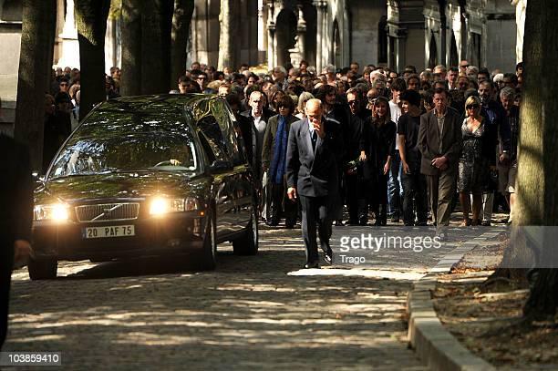 Director Alain Corneau Funerals at Cimetierre du Pere Lachaise on September 4 2010 in Paris France