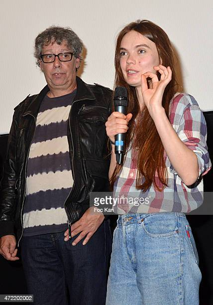 Director Alain Margot and Ukrainian Femen Founder painter Oxana Shachko attend the 'Je Suis Femen' : Alain Margot's movie Screening at Luminor Cinema...