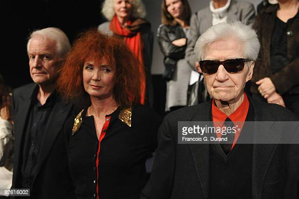 "Director Alain Resnais and actors Sabine Azema and Andre Dussolier attend ""Les Herbes Folles"" Paris premiere at Cinematheque Francaise on November 2,..."