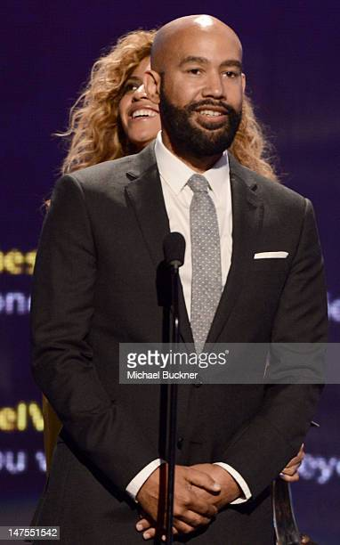 Director Alan Ferguson accepts the award for Video Director of the Year onstage during the 2012 BET Awards at The Shrine Auditorium on July 1 2012 in...