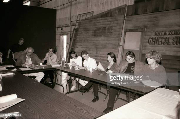 Director Alan Myerson leads table read with writer/creator Paul Simms and castmembers Maura Tierney Dave Foley Vicki Lewis Stephen Root and Andy Dick...
