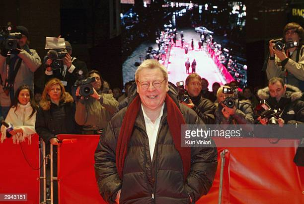 Director Alan Parker arrives for the screening of the new film The Missingat the 54th annual Berlin International Film Festival on February 7 2004 in...