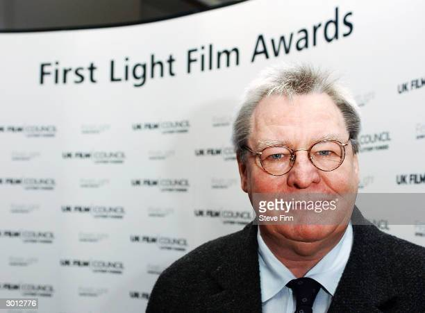 Director Alan Parker poses at The First Light Film Awards celebrating the best and broadest examples of short UK films made by young people aged...