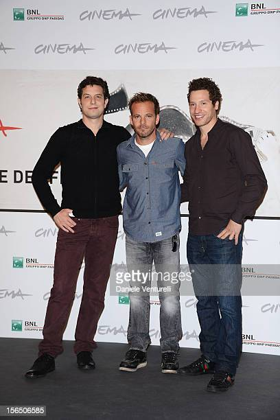 Director Alan Polsky, actor Stephen Dorff and director Gabe Polsky attend the 'The Motel Life' Photocall during the 7th Rome Film Festival at...