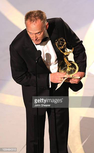 Director Alan Taylor accepts the Outstanding Director for a Drama Series award for The Sopranos during the 59th Annual Primetime Emmy Awards at the...