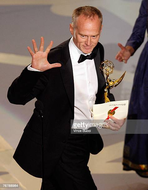 Director Alan Taylor accepts the Outstanding Director for a Drama Series award for The Sopranos onstage during the 59th Annual Primetime Emmy Awards...