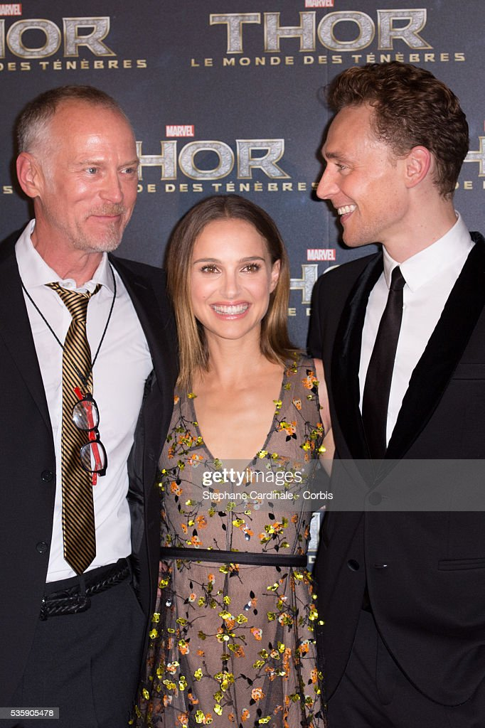 Director Alan Taylor, Actress Natalie Portman and Tom Hiddleston attend 'Thor: The Dark World' Premiere at Le Grand Rex Cinema, in Paris.
